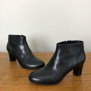 Cole Haan | 7.5 Black Leather Heeled Ankle Boots